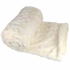 Batik Faux Fur Sherpa Throw Blanket