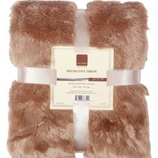 Oversized Double Sided Faux Fur Throw Blanket