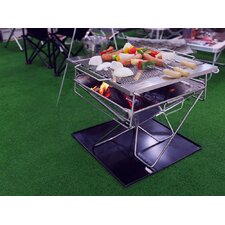 Folding Portable Charcoal Grill with Carry Bag