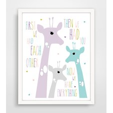 First We Had Each Other Purple Giraffe Paper Print