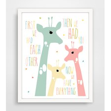 First We Had Each Other Pink Giraffe Paper Print
