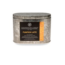 Heritage Pumpkin Latte Double Wick Tin Candle