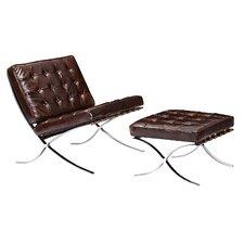 Mies Side Chair and Ottoman