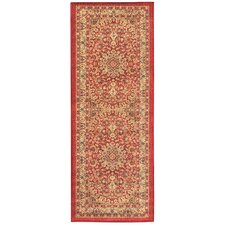 Sweet Home Medallion Red Area Rug
