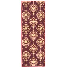 Sweet Home Damask Red Area Rug