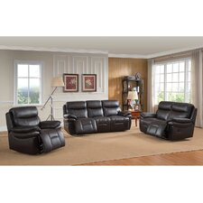 Rushmore 3 Piece Leather Living Room Set