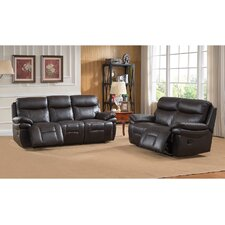 Rushmore Leather Recliner Sofa and Loveseat Set