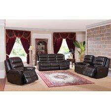 Astoria 3 Piece Leather Living Room Set