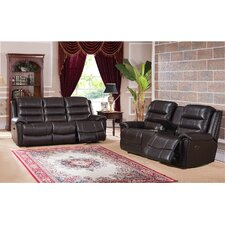 Astoria Leather Recliner Sofa and Loveseat Set (Set of 2)