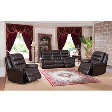 Astoria 3 Piece Leather Living Room Set (Set of 3)