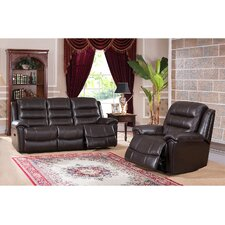 Astoria 2 Piece Leather Living Room Set (Set of 2)