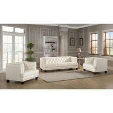 Newport 3 Piece Leather Living Room Set