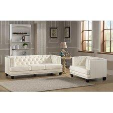 Newport 2 Piece Leather Living Room Set