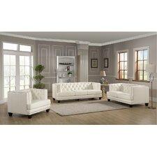 Newport 3 Piece Leather Living Room Set