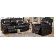 Charlotte Leather Recliner Sofa and Chair Set