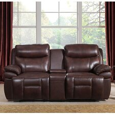 Sanford Leather Reclining Loveseat