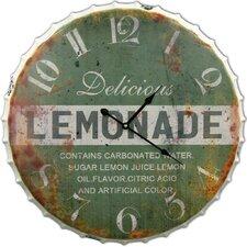 """Oversized 24"""" Lemonade Bottle Cap Clock"""