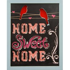 Lighted Home Sweet Home Wall Decor