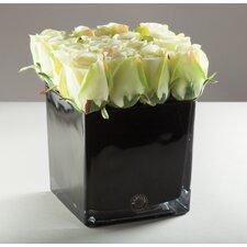 Kunstblume Rosenknospen in Vase