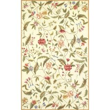Colonial Ivory Floral Area Rug