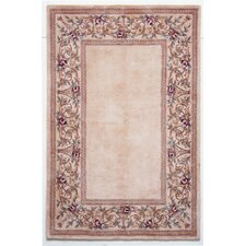 Ruby Ivory Floral Border Area Rug