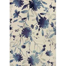 Reflections Blue Watercolors Area Rug