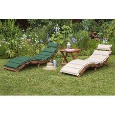 Gartenliegen-Set Ipanema mit Auflage