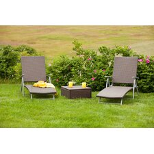 3 Piece Deck Chair Set