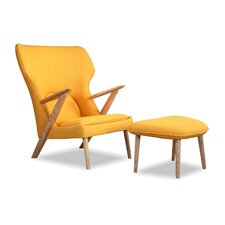 Cub Mid Century Modern Lounge Chair and Ottoman