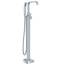 HelixBath Iguazu Single Handle Floor Mount Freestanding Tub Filler