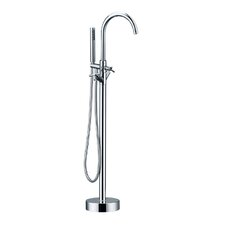 HelixBath Alamere Single Handle Floor Mount Freestanding Tub Filler