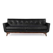 Jackie Mid Century Modern Vintage Leather Sofa