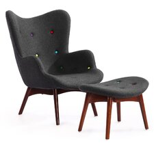 Contour Grant Featherston Wing Arm Chair and Ottoman