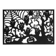 Halloween Owl Tree Rectangle Placemat (Set of 4)