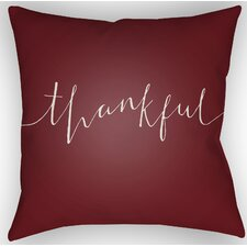 Thankful Indoor/Outdoor Throw Pillow