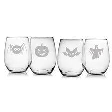 Scary Creatures 21 Oz. Stemless Wine Glass