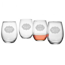 Witch's Brew 21 Oz. Stemless Wine Glass