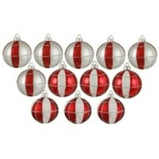 Peppermint Twist Shatterproof Christmas Ornament (Set of 12)
