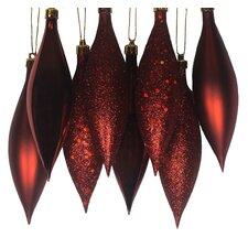 Shatterproof Finial Drop Christmas Ornament (Set of 8)