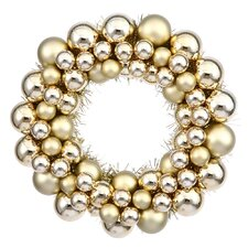 Colored Ball Wreath with Tinsel