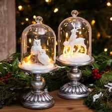 Winter Animals LED Clough Figurine
