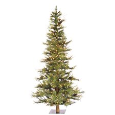 Artificial Christmas Tree with 300 Dura-Lit Clear Lights with Stand