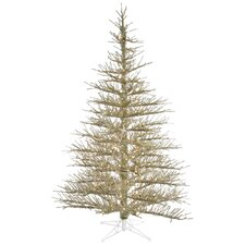 7.5' Tinsel Artificial Christmas Tree 600 LED Clear Lights with Stand