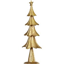 Foil Metal Tree Holiday Accent