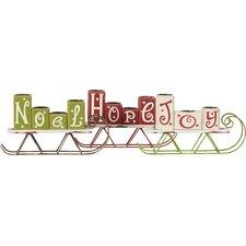 Hope Joy Noel Wooden Candle Holder (Set of 3)