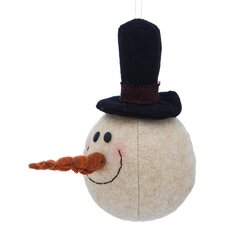 Plush Snowman Ornament