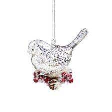 Mercury Glass Cardinal Ornament