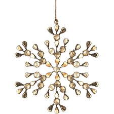 Trousseau Vintage Pearl Snowflake Ornament