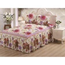 Hailey Panel Bed Skirt Rose