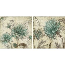 """Botanical"" by Aimee Wilson 2 Piece Graphic Art on Wrapped Canvas Set"